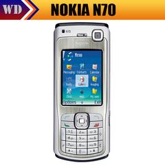 Refurbished Original NOKIA N70 Mobile Cell Phone silver