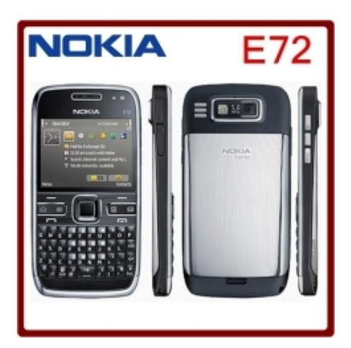 Refurbished Phone Nokia E72 Cell Phones 5MP Camera Wifi Bluetooth FM GPS Phone Gold
