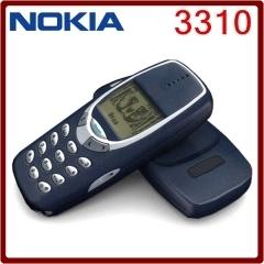 Refurbished phone Nokia 3310 Cheap Phone Unlocked GSM 900/1800 With Multi Language Blue