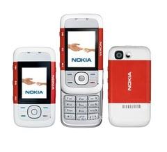 Refurbished Phone Original Nokia 5300 1.3MP Wi-Fi FM Radio Cell Phone Red