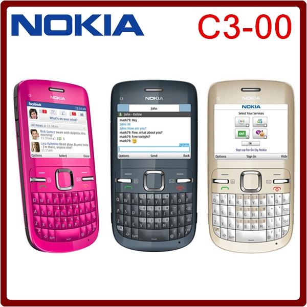 Refurbished Nokia C3-00 WIFI 2MP Bluetooth Camera Jave Unlocked Phone White