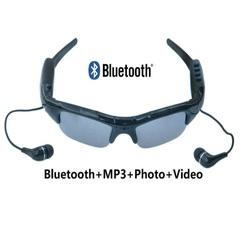 Bluetooth MP3 Player Photo Video Sunglasses Mini DV Camcorder Spy Mini Camera Glasses Black One Size One Size
