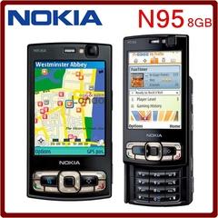 Refurbished Phone Nokia N95 8GB Storage Camera 5MP Unlocked Mobile Phone Black white