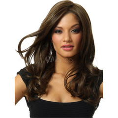 Body Wave Lace Front Human Hair Wigs For Women Pre Plucked Brazilian Remy Hair Wigs Bleached Knots DarkBrown one size