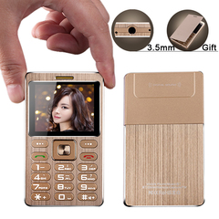 A10 mini metal card phone anti lost free camera MP3 3.0 bluetooth BT dial 3.5mm jack remote camera gold