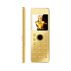ULCOOL V11 Card Mobile Phone 1500mAh Battery 1.52 inch Support Bluetooth FM GSM Dual SIM Cellphones gold