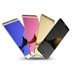 2019 Colorful Ultrathin Metal Anica A7 Cellphone With MP3 Bluetooth Dual SIM Mobile gold