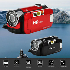 Fashion 2.7 inch TFT LCD HD 1080P 16MP 16X Digital Zoom Camcorder Video DV Camera Red
