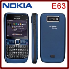 New Phone Original unlocked NOKIA E63 cell phones 3G WIFI Bluetooth 2MP CAMERA multilingual white