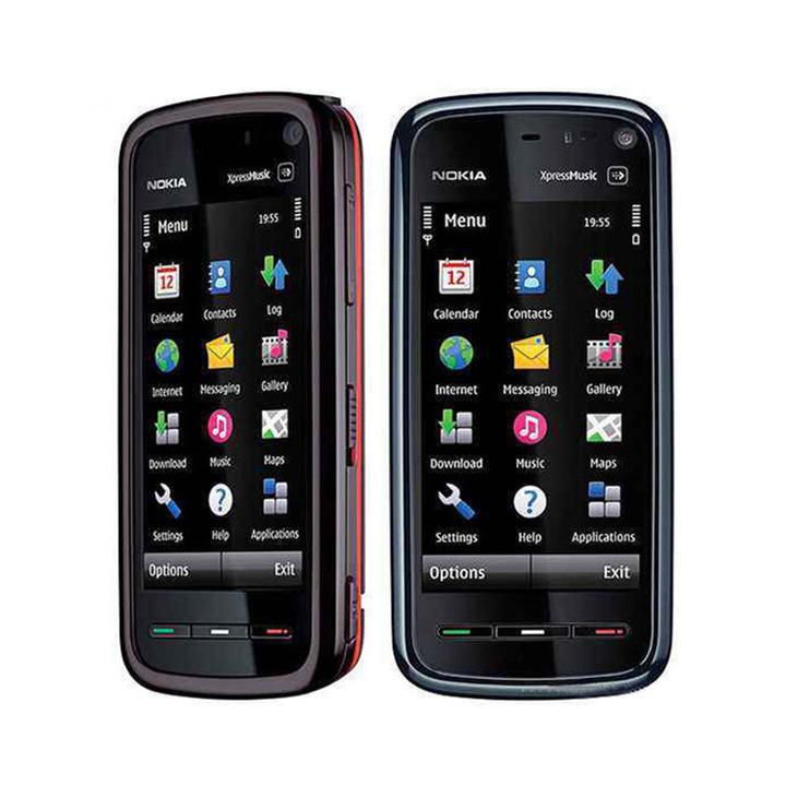 Refurbished Nokia 5800 XpressMusic Mobile smartphone Unlovked Original 3G Wifi GPS Bluetooth red