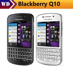 Refurbished phone Blackberry Q10 Mobile Phone 3G 4G Network 8.0MP Dual-core 1.5 GHz 2G RAM 16G ROM black