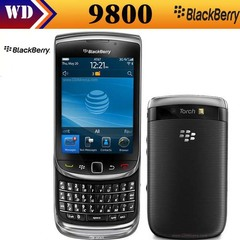 Original BlackBerry  9800 unlocked 3G smartphone, touch 3.2inch,WiFi,GPS,5.0MP Refurbished black