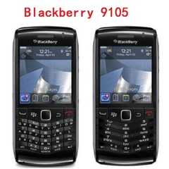 Original BlackBerry Pearl 9105 Mobile Phone 3G GSM WiFi Smartphone Quadband Unlocked black