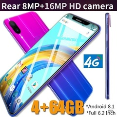 2019 New X21 6.2 Inch Screen Andriod Mobile Phones 4GB+ 64GB smart phone 16.0MP+8MP Smartphone Gradient