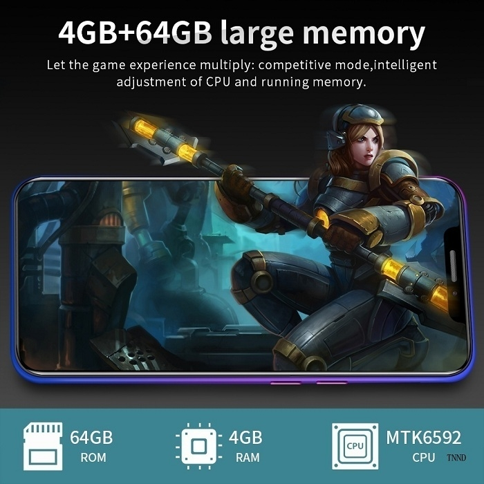 2019 New X21 6.2 Inch Screen Andriod Mobile Phones 4GB+ 64GB smart phone 16.0MP+8MP Smartphone red 2