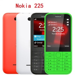 NEW Original Nokia 225  2.8 Inches 2MP Camera 2G GSM FM Bluetooth Mp3 Player Cellphone black single sim
