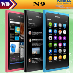 Refurbished Nokia N9 8MP MeeGo OS 1GB RAM 16GB ROM Wi-Fi FM radio Touchscreen cell phone black