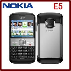 Refurbished phone Nokia E5 5MP Camera 3G network english languge cell phones black