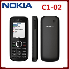 New phone Nokia C1-02 Mobile Phone Unlocked Grade A Complete Accessories Basic Phone black