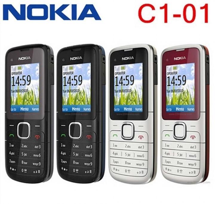 Refurbished nokia C series C1-01 -(unlocked) GSM 900/180 durable phone black