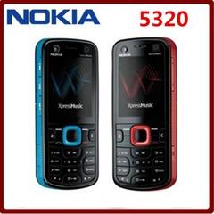 Nokia phone Nokia 5320 XpressMusic 3G Original Red&Blue Unlocked 2MP Camera Mobile Phone black