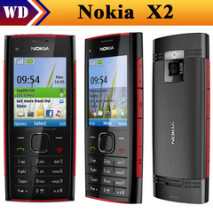 Refurbished phone Nokia X2-00 Bluetooth FM JAVA 5MP Cell Phones Free Shipping black