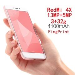 Refurbished Xiaomi Redmi 4X 5.5in 4100mAh 3g+32g 13MP+5MP 1280x720 4G smartphone With FingerPrint rosegold