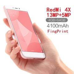Refurbished Xiaomi Redmi 4X 5.5in 4100mAh 4g+64g 13MP+5MP 1280x720 4G smartphone With FingerPrint rosegold