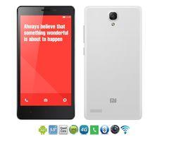 Refurbished XiaoMi RedMi Note 1  5.5Inch 13MP+5MP 1G+8G/2G+8G/2+16g 3060mah 4G SmartPhone white 1+8g