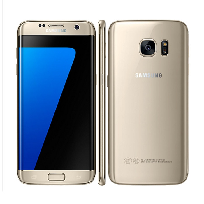 Refurbished Samsung Galaxy S7 Edge dual SIM 4G LTE  12.0 MP 4GB RAM 32GB ROM 4G Smart phone gold single sim