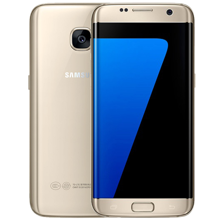 Refurbished Samsung Galaxy S7 Edge Smartphone 5.5'' 4GB+64GB double SIM 12MP 4G Smart phone gold