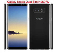 Refurbished Samsung Galaxy Note 8 6GB+64GB 6.3'' screen 24mp+8mp wireless charging smartphone single sim card  black