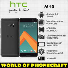 Refurbished HTC M10 Mobile phone RAM 4GB ROM 32GB 5.2 inch 12MP Camera 4G LTE Cellphone gray