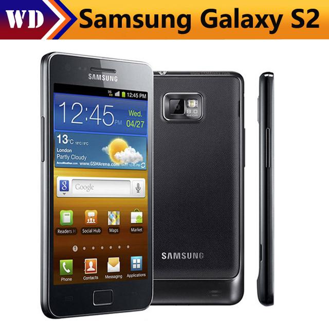 Refurbished Samsung Galaxy S2 cell phone GPS 16GB ROM 1GB ROM 8MP 4.3 Inch  Smartphone black