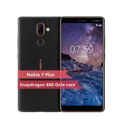 Refurbished Nokia 7 Plus Smartphone 6.0'' 6+64GB 13MP+16MP Mobile Phone 3800mAh 4G NFC Cellphone black