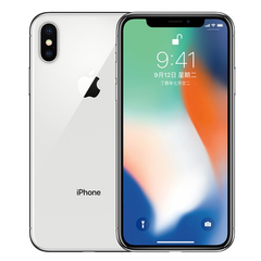 Refurbished iphone X  256GB 12MP 5.8 inch apple mobile with fingerprint silver 256g
