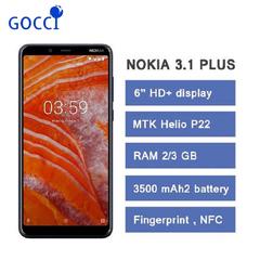 Refurbished NOKIA 3.1 Plus 6 inch IPS RAM 3GB ROM 32GB Dual SIM  3500mAh 4G Octa-core Mobile Phone blue