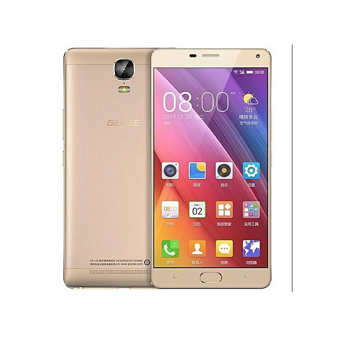 Certified Refurbished:Gionee M5 Plus 3GB+64GB 5020mAh 6.0 inch AMOLED 13MP+5MP 4G net smartphone gold 64g