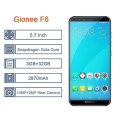 Certified Refurbished:Gionee F6 5.7-inch 3GB+32GB  (13MP + 2MP) + 8MP, Dual Sim 4G LTE Smartphone black