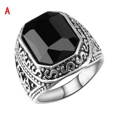 Gemstone Ring Europe and America Rings Foreign Trade Vintage Rings Men and Women Wholesale A 7