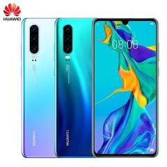 Original Huawei P30 8G+64G/128G/256G  three Camera Wide angle 40MP 6.1 inch SmartPhone 3650mAh sky blue 8+64g