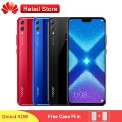 Huawei Honor 8X Global Rom MobilePhone 6.5' Screen 3750mAh Battery Dual Back 20MP Camera Smartphone bue 4+64g