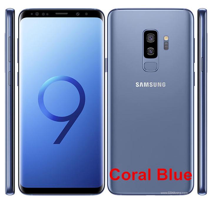 Refurbished Samsung Galaxy S9 Plus S9 + Smartphone 6.2 inch 6GB RAM 64GB  SAMSUNG s9 Plus Single SIM blue dual sim