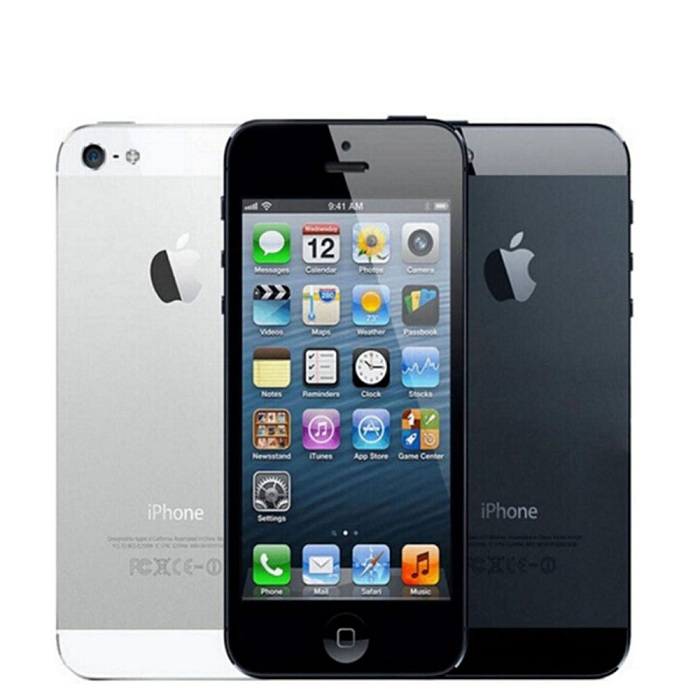 Original Refurbished phone Unlocked iphone 5-16GB +1GB 8MP 4.0 inch apple mobile white