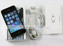 New Original Box sealed iPhone 4S-3.5'',8GB/16GB,Authentic Guaranteed,Unlocked Smart Mobile Phone 16GB  black