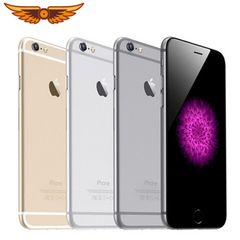 100% Original  iPhone 6 Dual Core 4.7Inches 1GB RAM 16GB ROM 8MP  WCDMA  Unlocked Used Smartphone random color  with free case and glass protector