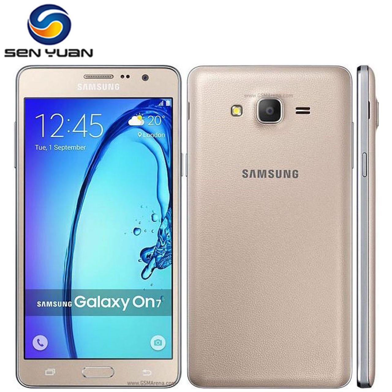 Refurbishedl Samsung Galaxy On7 G6000 Mobile Phone 8GB/16 ROM 1.5 RAM 13MP  Camera Quad Core Dual sim gold 8g