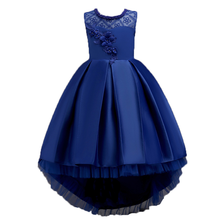 f7f7cd3d9441 2019 New Girls Clothes Girls Dress Princess Dresses Baby Girls Clothes  Party Wedding Skirts dark blue