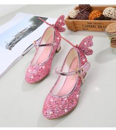 2019 New Children Girls Shoes Lovely Sandals Single Shoes Princess Kids Shoes Princess Shoes pink 26