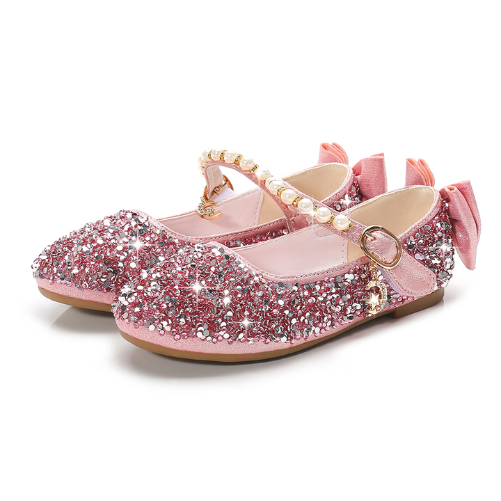 2019 New Kids Shoes Girls Shoes Spring Fall Shoes Princess Flat Shoes for Baby  Girls pink f1687f09a510